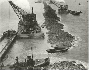 Afsluitdijk aanleg